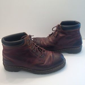 Dr. Marten brown leather lace up boots